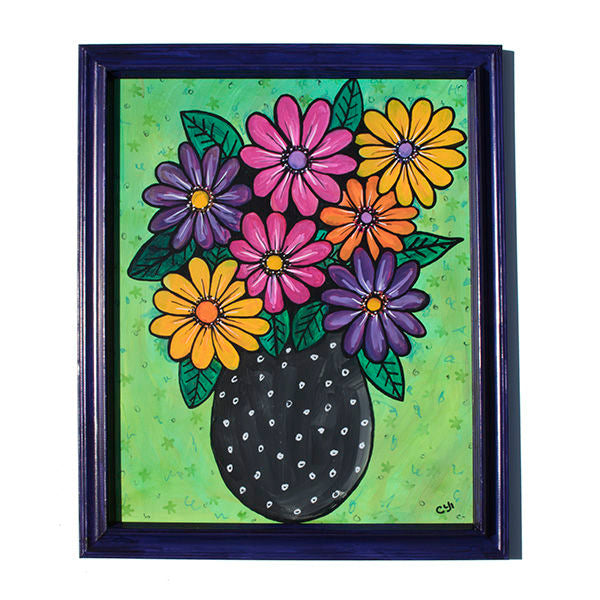 Gerber Daisy Painting - Colorful Floral Still Life