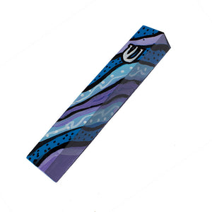 Mezuzah Case - Hand Painted Wood Mezuza Holder