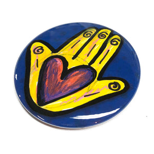 Heart in Hand Magnet, Mirror, or Pin