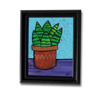Haworthia Painting - Succulent Art