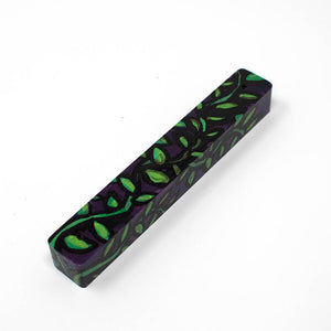 Green and Purple Mezuzah Case