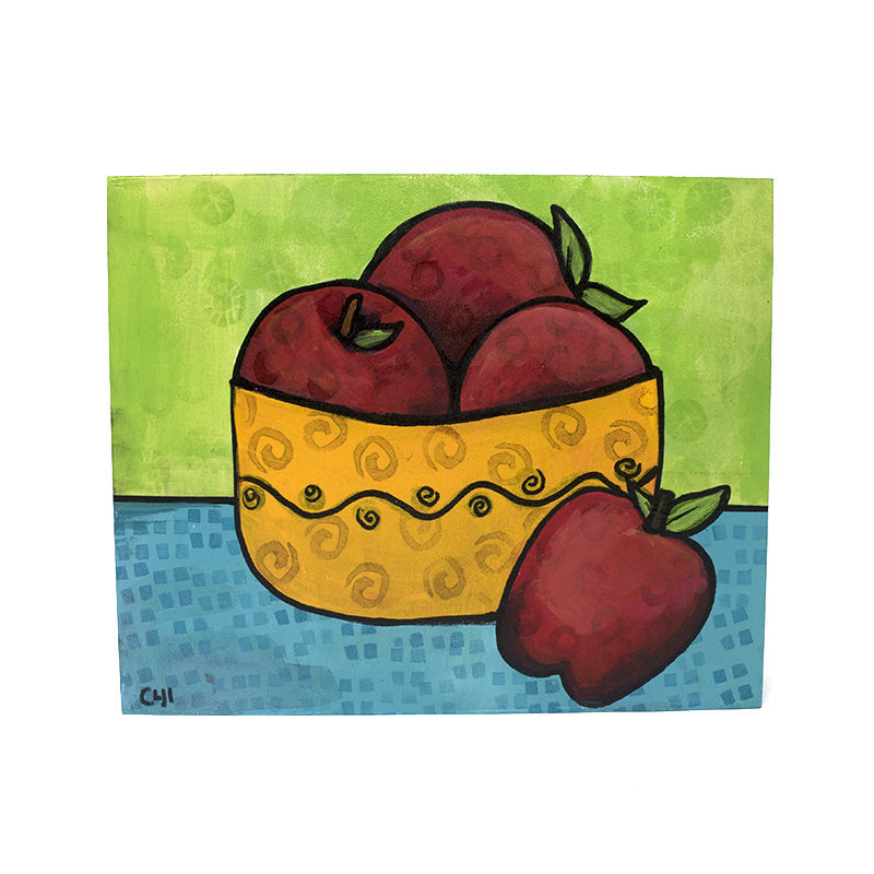 Red Delicious Apple Painting - Living Room or Kitchen Art