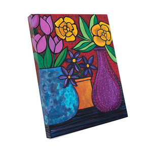 Original Flower Painting - Still Life with Bright Colors