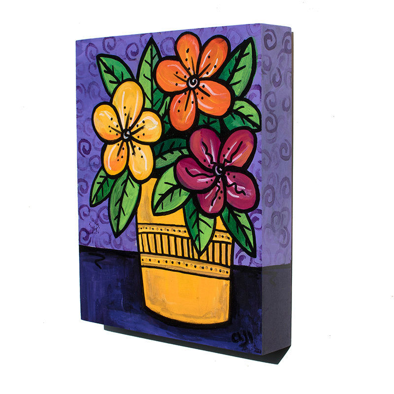 Happy Flowers Painting - Colorful Floral Art