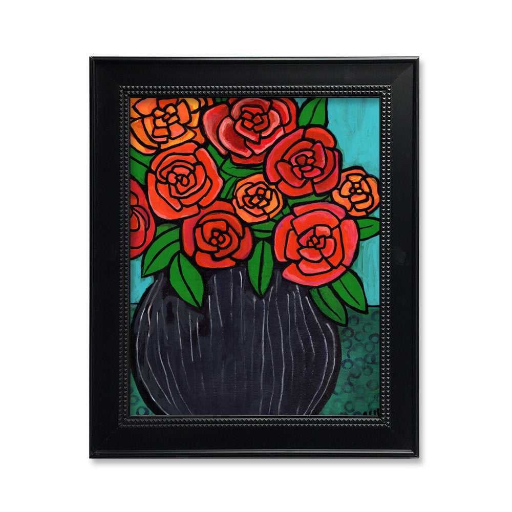Red Rose Print - 5x7, 8x10, or 11x14 Art Print with Optional Mat