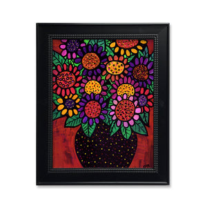 Playful Posies Art Print - Whimsical Floral Print