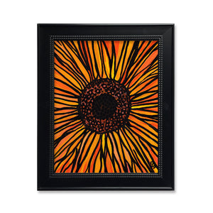 Brilliant Aster Flower Print -  Yellow and Orange Floral Art Print