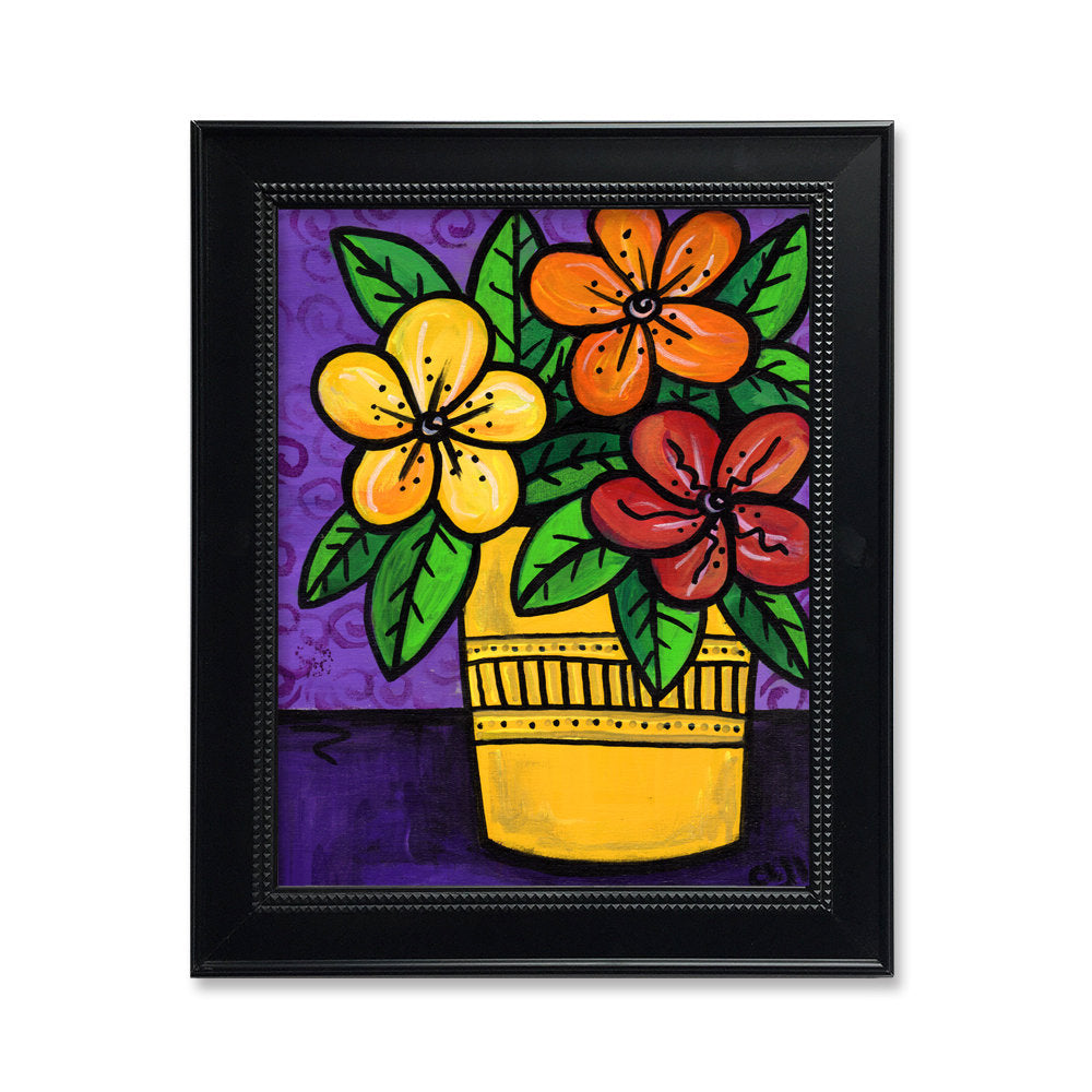 Colorful Flower Wall Art - Impatiens Print for Kitchen, Bedroom, or Living Room
