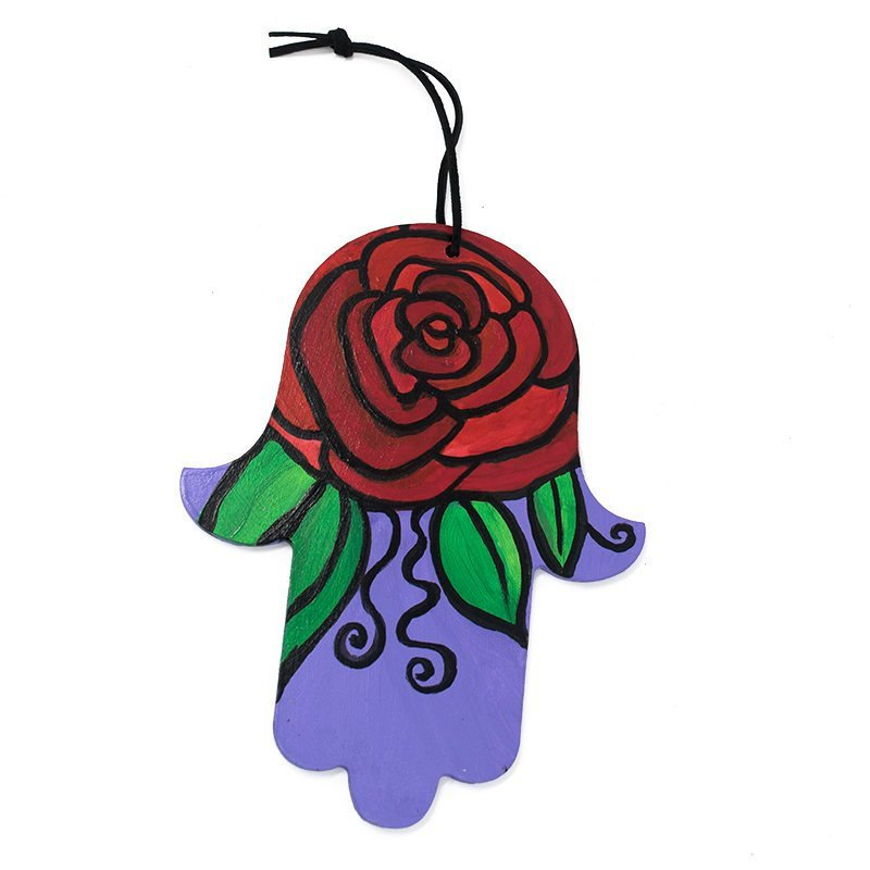 Flower Hamsa Hanging - Rose Hamsa Wall Decor
