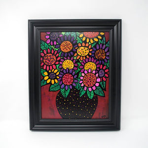 Abstract Flower Painting - Original Contemporary Art