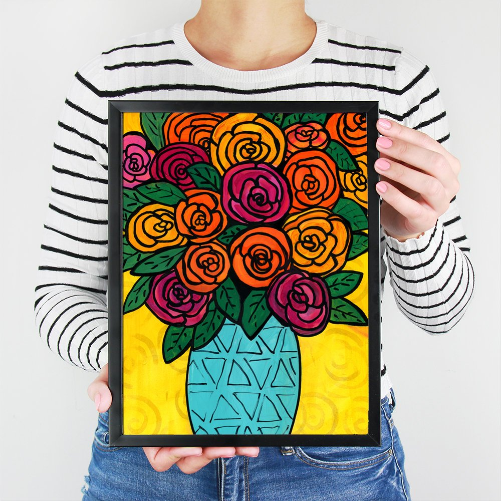 Ranunculus Print - Abstract Floral Art Print