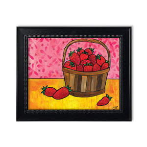 Strawberry Print - Basket of Strawberries Still Life Art Print