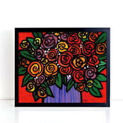 All the Roses Print - Colorful Floral Art Giclee for Bedroom, Bathroom, Living Room