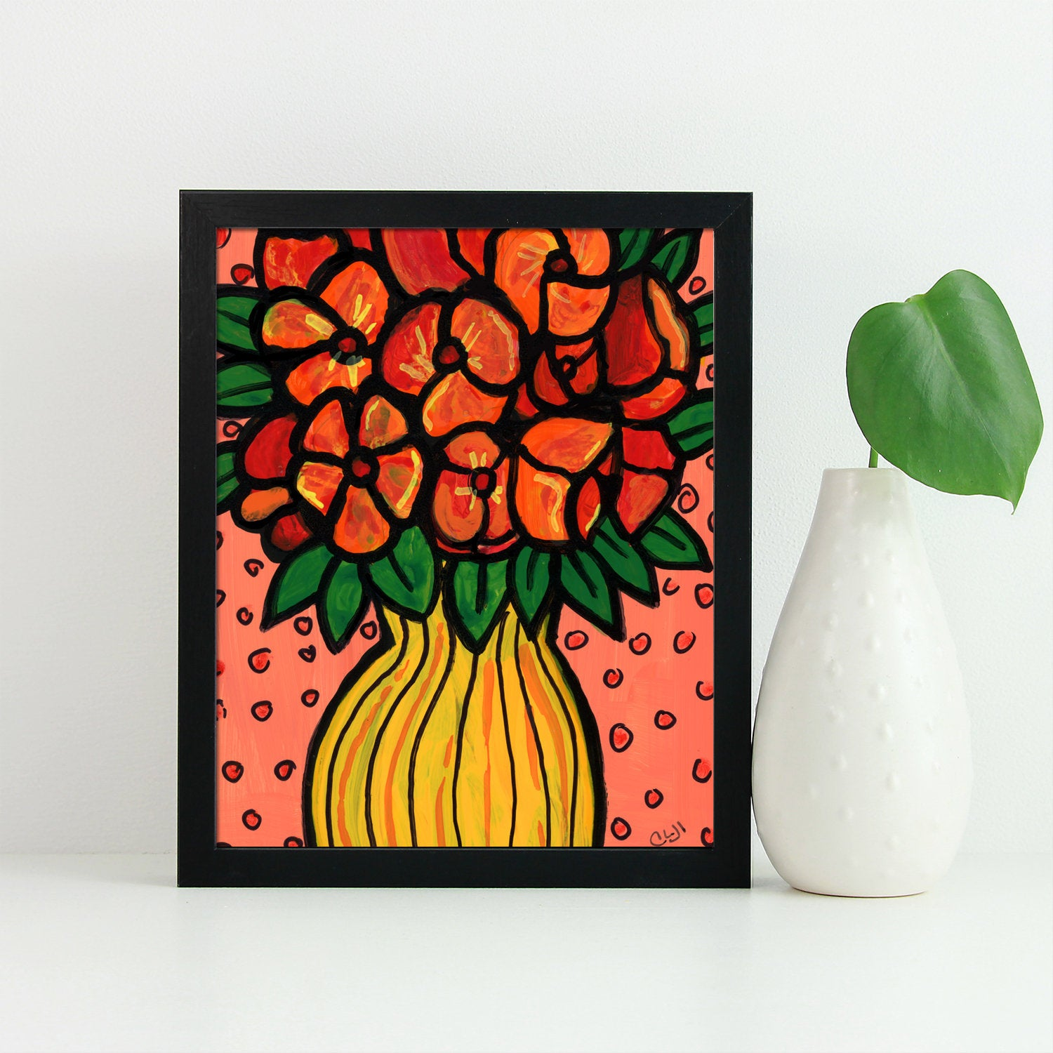 Cheerful Floral Giclee - Bouquet of Flowers Art Print
