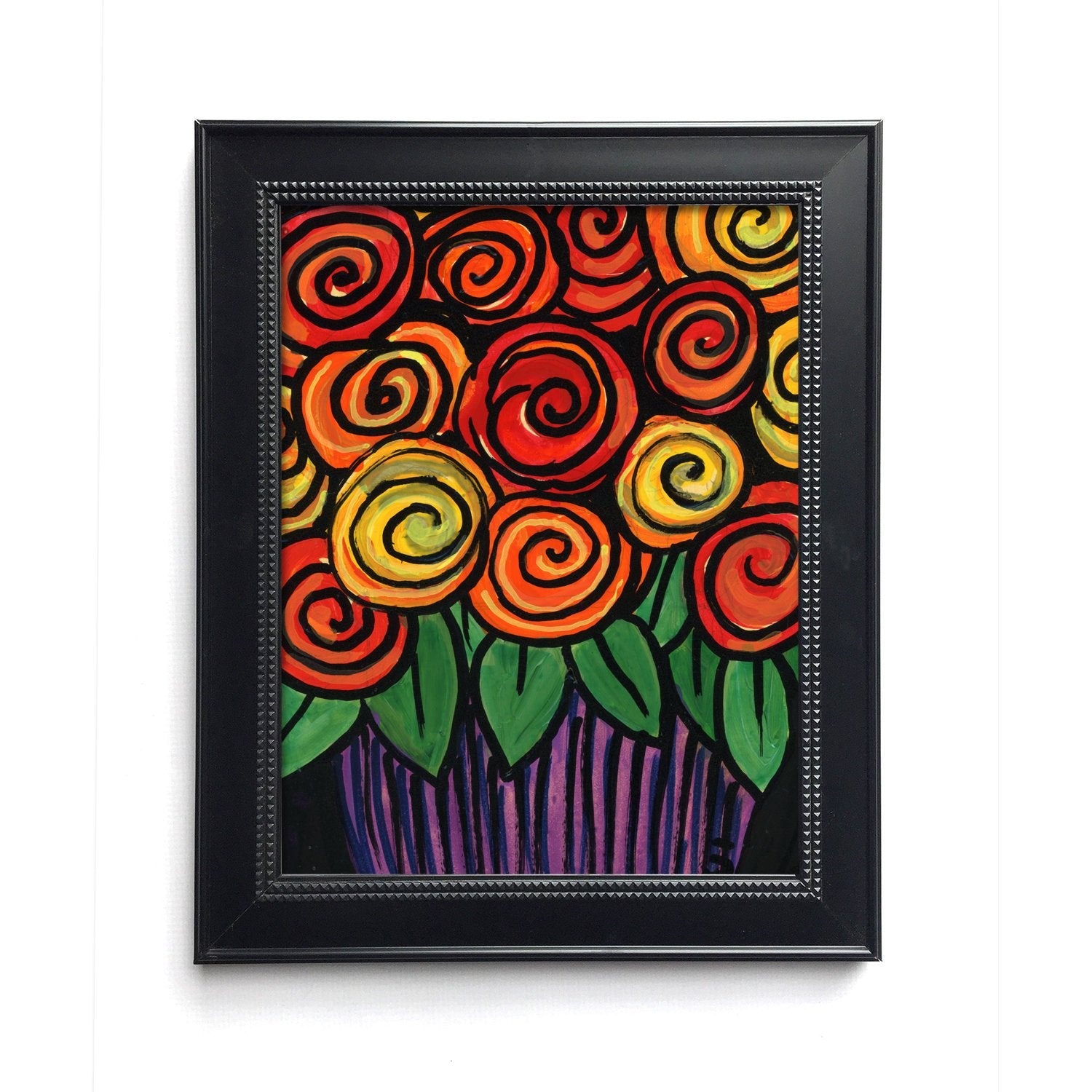Whimsical Rose Print - Bright Colors