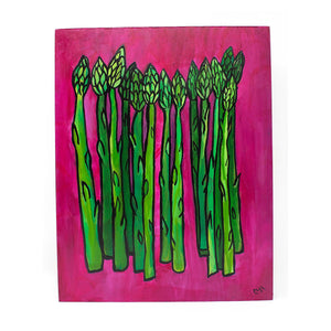 Asparagus Painting - Green Vegetable Art