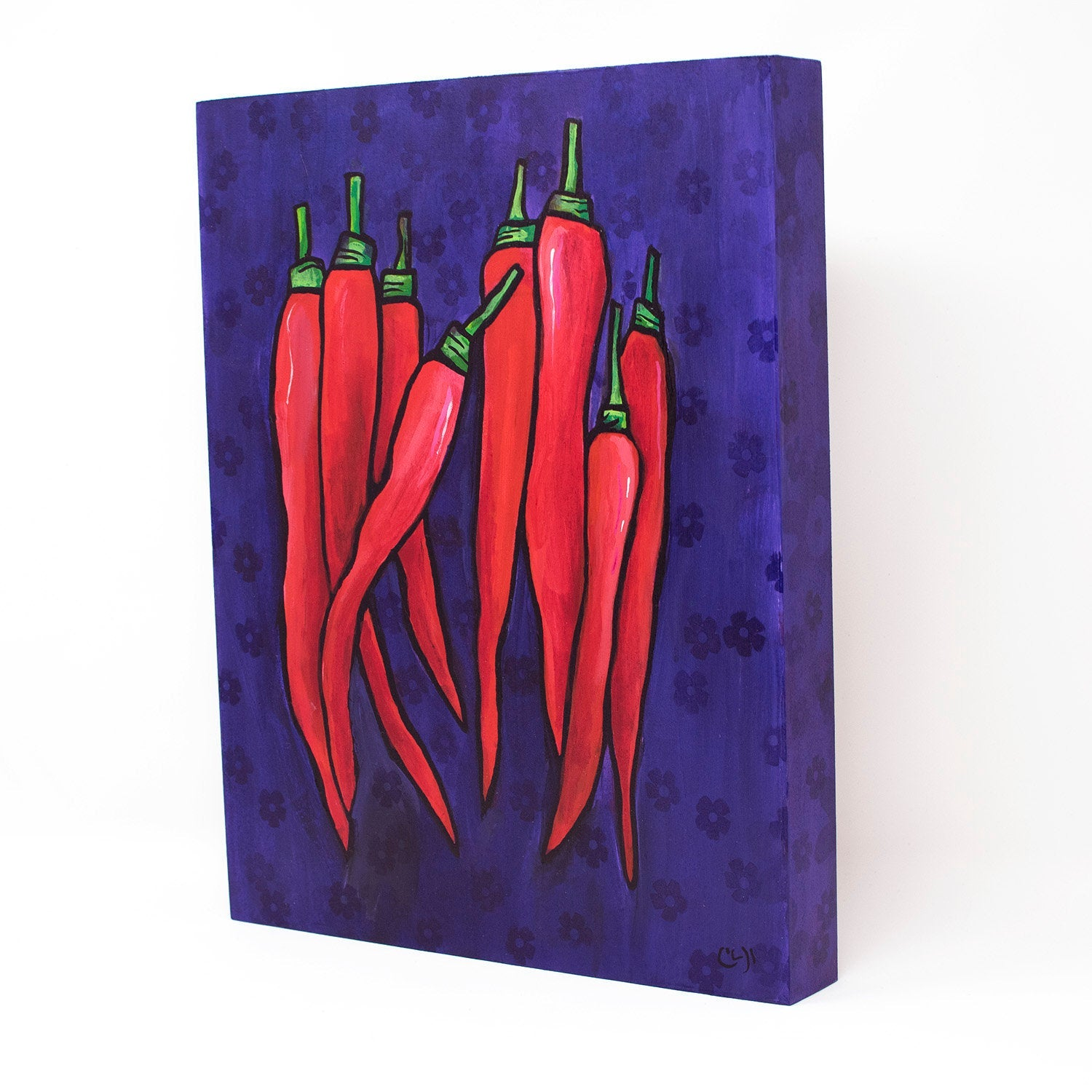Red Chili Pepper Painting - Spicy Vegetable Art