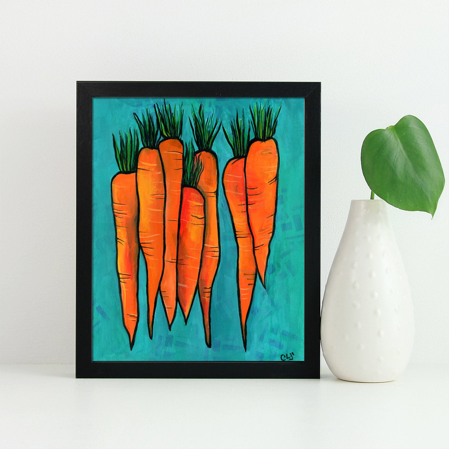 Carrot Print - Bunch of Carrots Wall Art