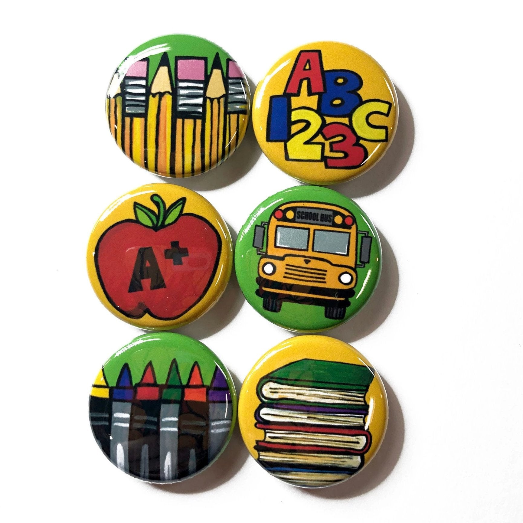 School Magnets or Pinback Buttons - Teacher Gift
