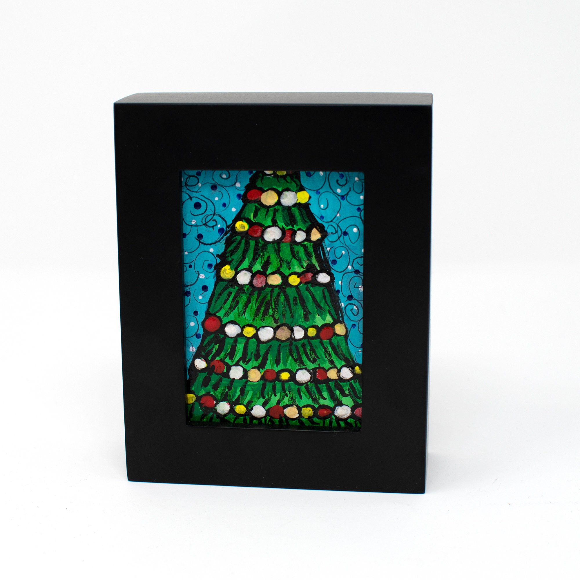 Small Framed Christmas Painting