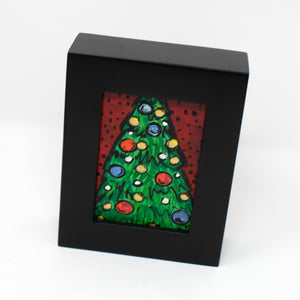 Mini Christmas Tree Painting
