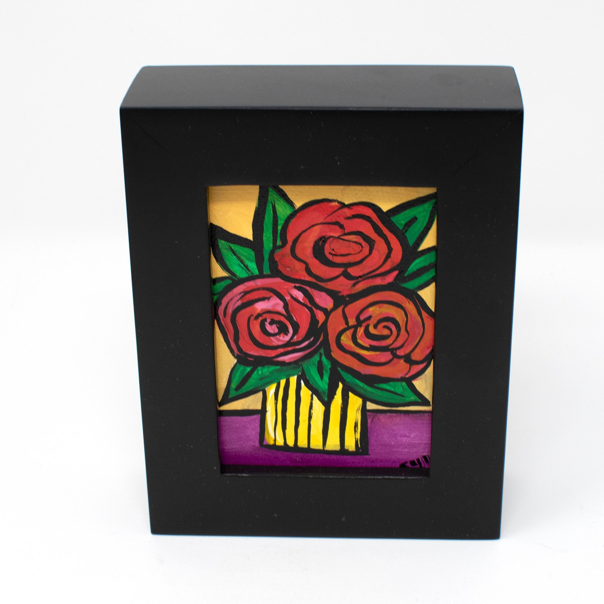 Mini Red Rose Painting - Unique Valentine's Day or Anniversary Gift