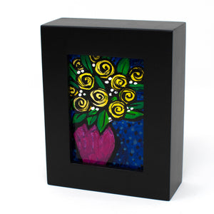 Small Yellow Rose Painting