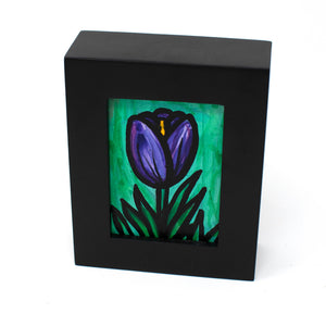 Mini Purple Tulip Painting