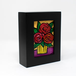 Small Red Rose Painting