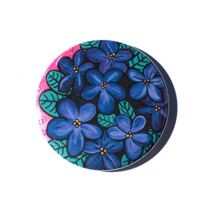 African Violets Magnet, Mirror, or Pin