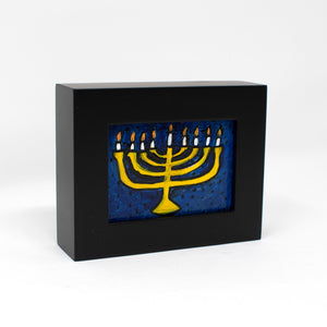 Small Framed Hanukkah Painting