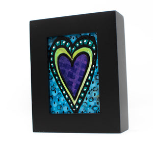 Purple Heart Mini Painting