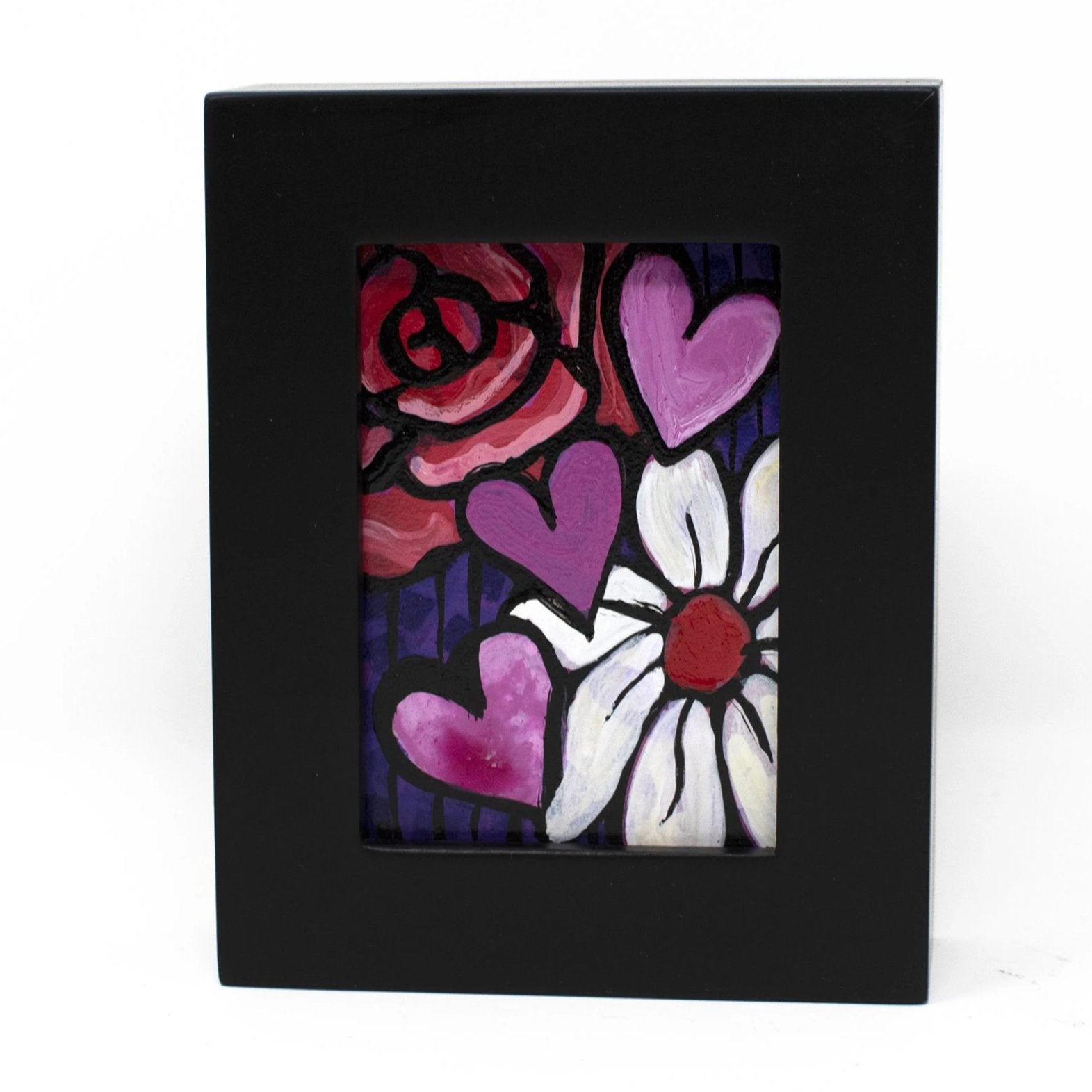 Hearts and Flowers Mini Painting