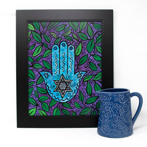 Star of David Hamsa Painting