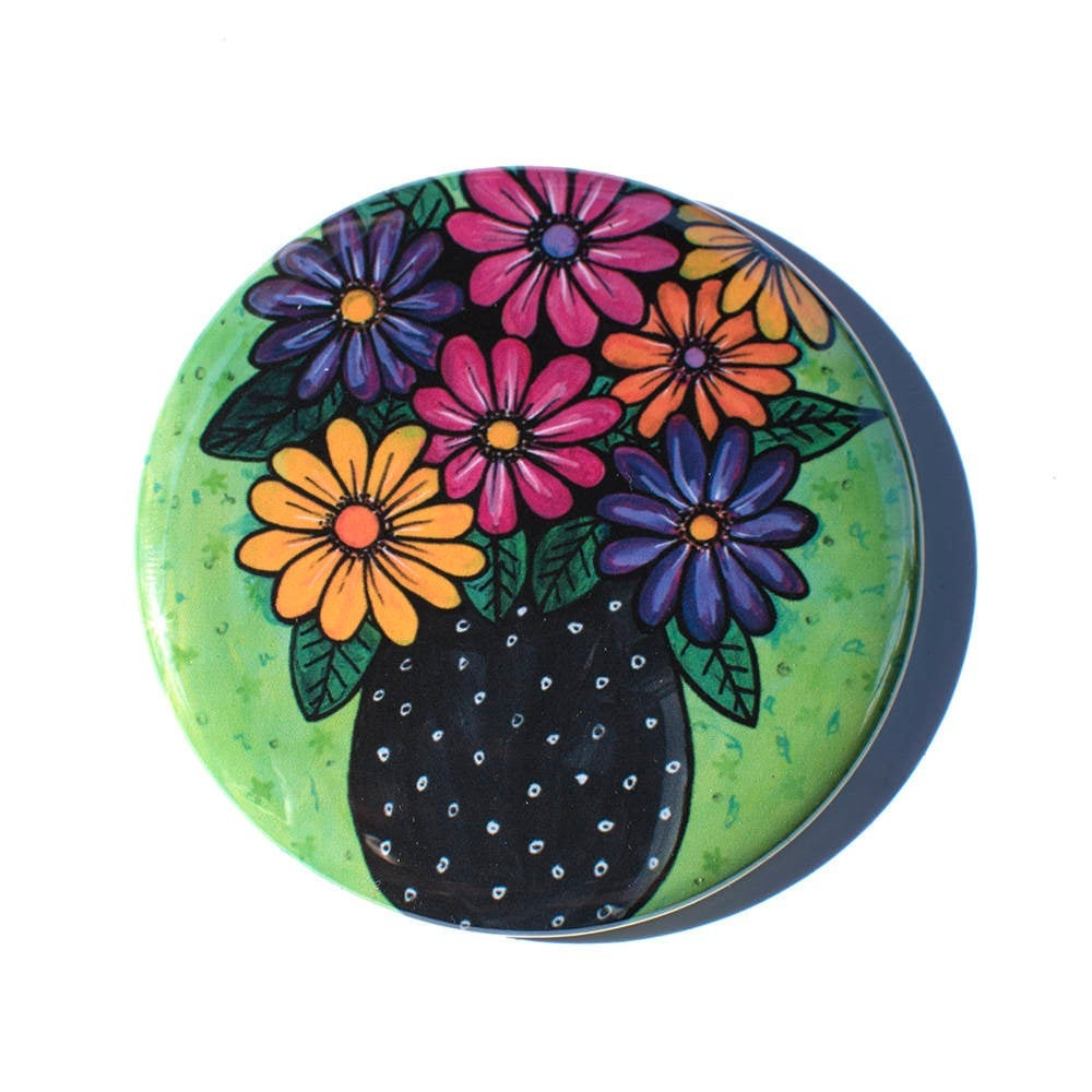 Gerbera Daisy Mirror, Magnet, or Pin