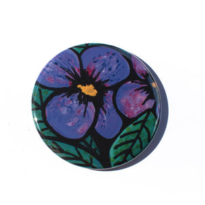 Purple Pansy Magnet, Mirror, or Pin
