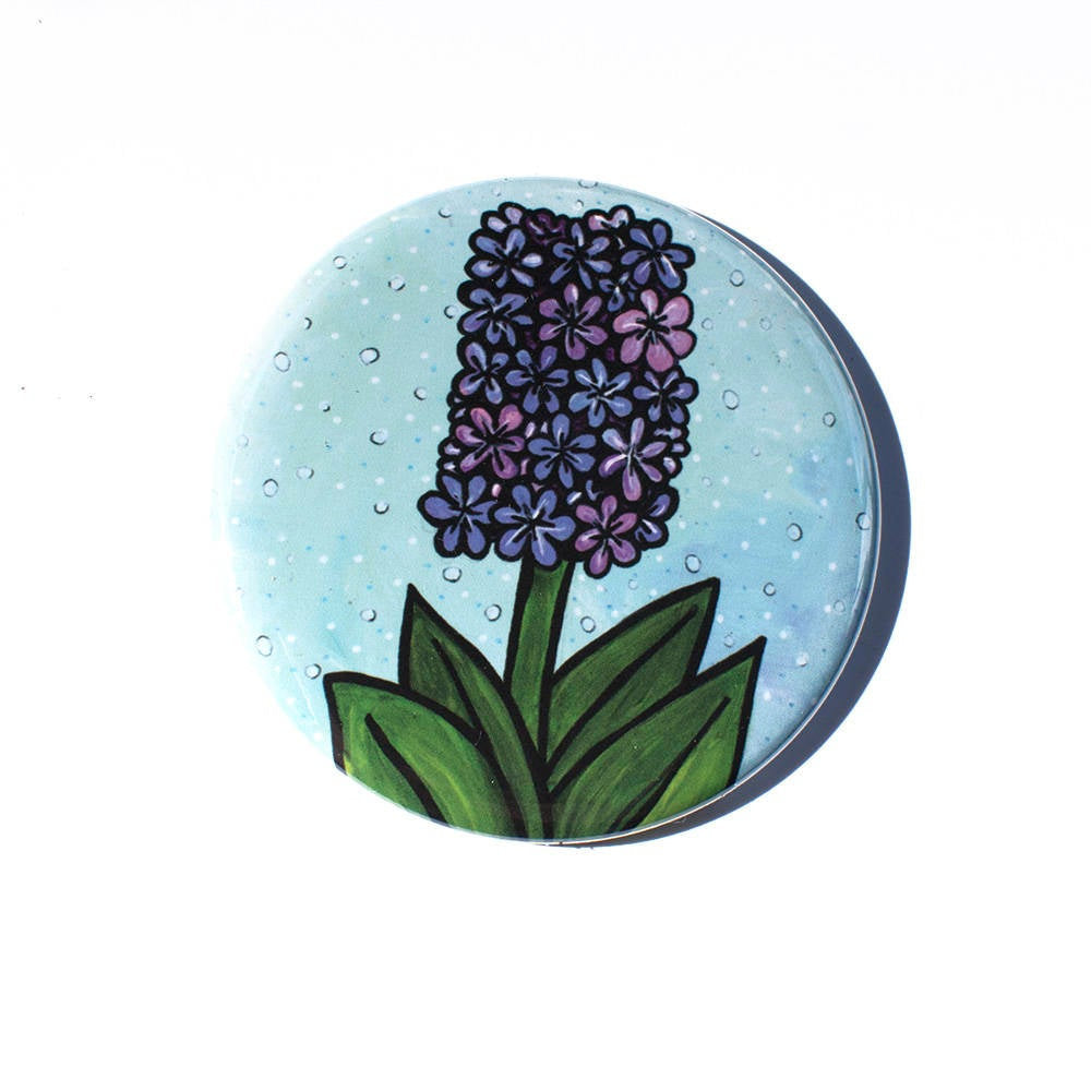Hyacinth Mirror, Magnet, or Pin