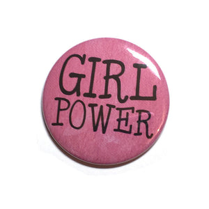 Girl Power Pin or Magnet or Mirror