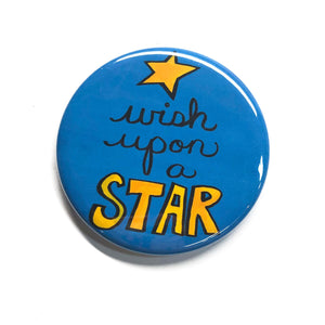 Wish Upon A Star Magnet, Pinback Button or Pocket Mirror