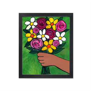 Flowers for You Bouquet Print - Colorful Floral Art Print