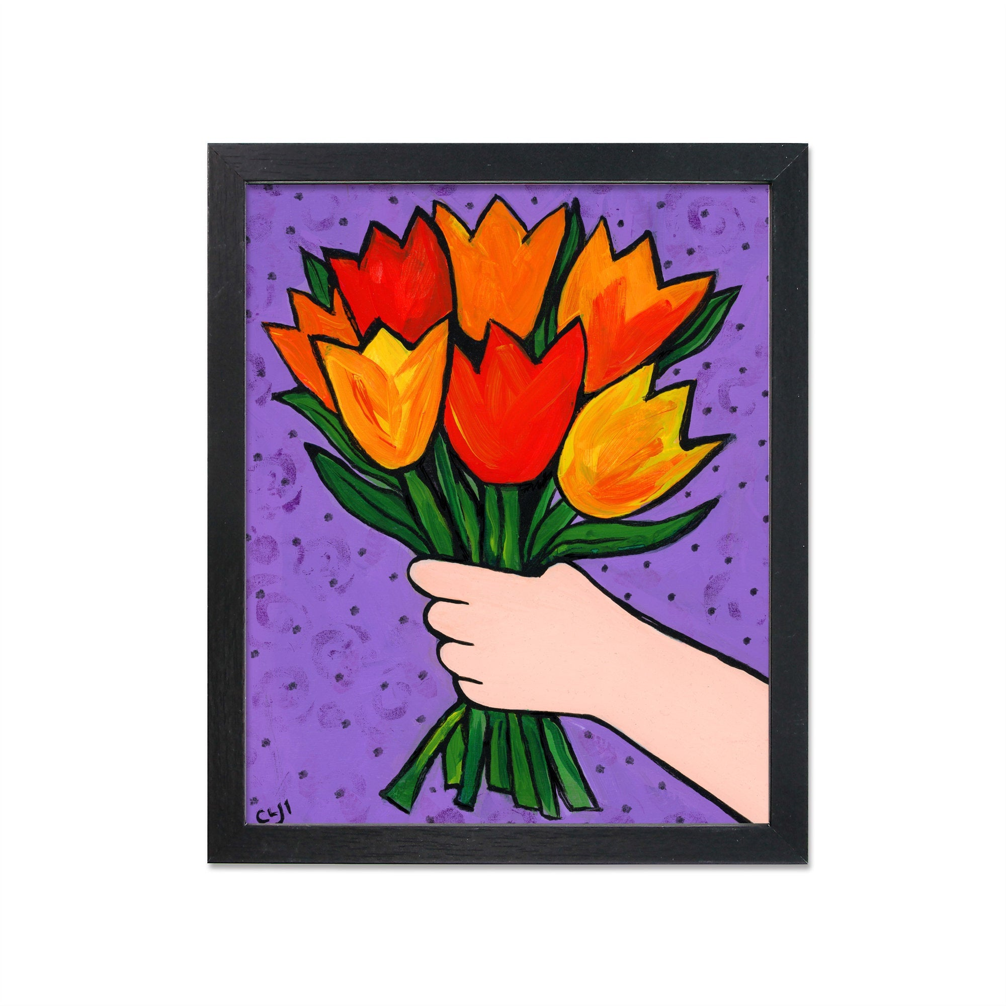 Tulip Bouquet Print - Colorful Floral Art Print