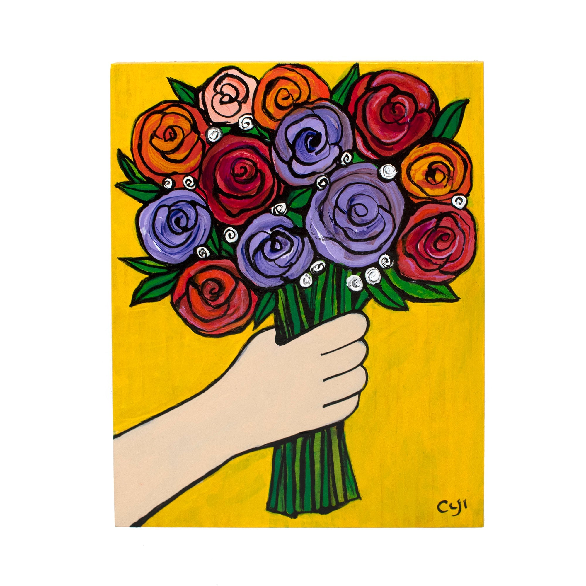 Rose Bouquet Painting