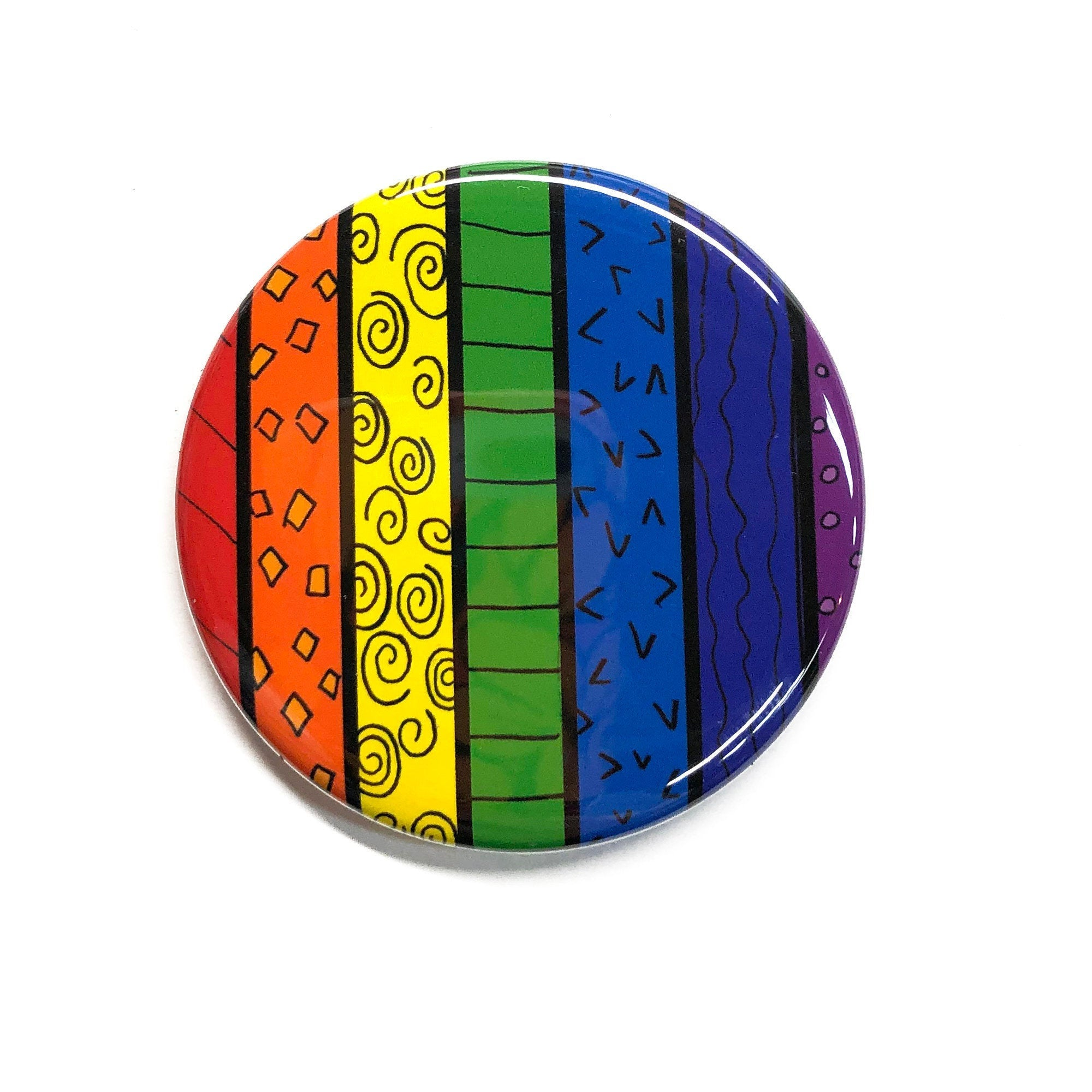 Rainbow Pin, Magnet, or Pocket Mirror