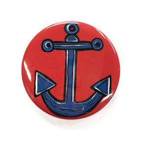 Anchor Magnet, Pin Back Button, or Pocket Mirror