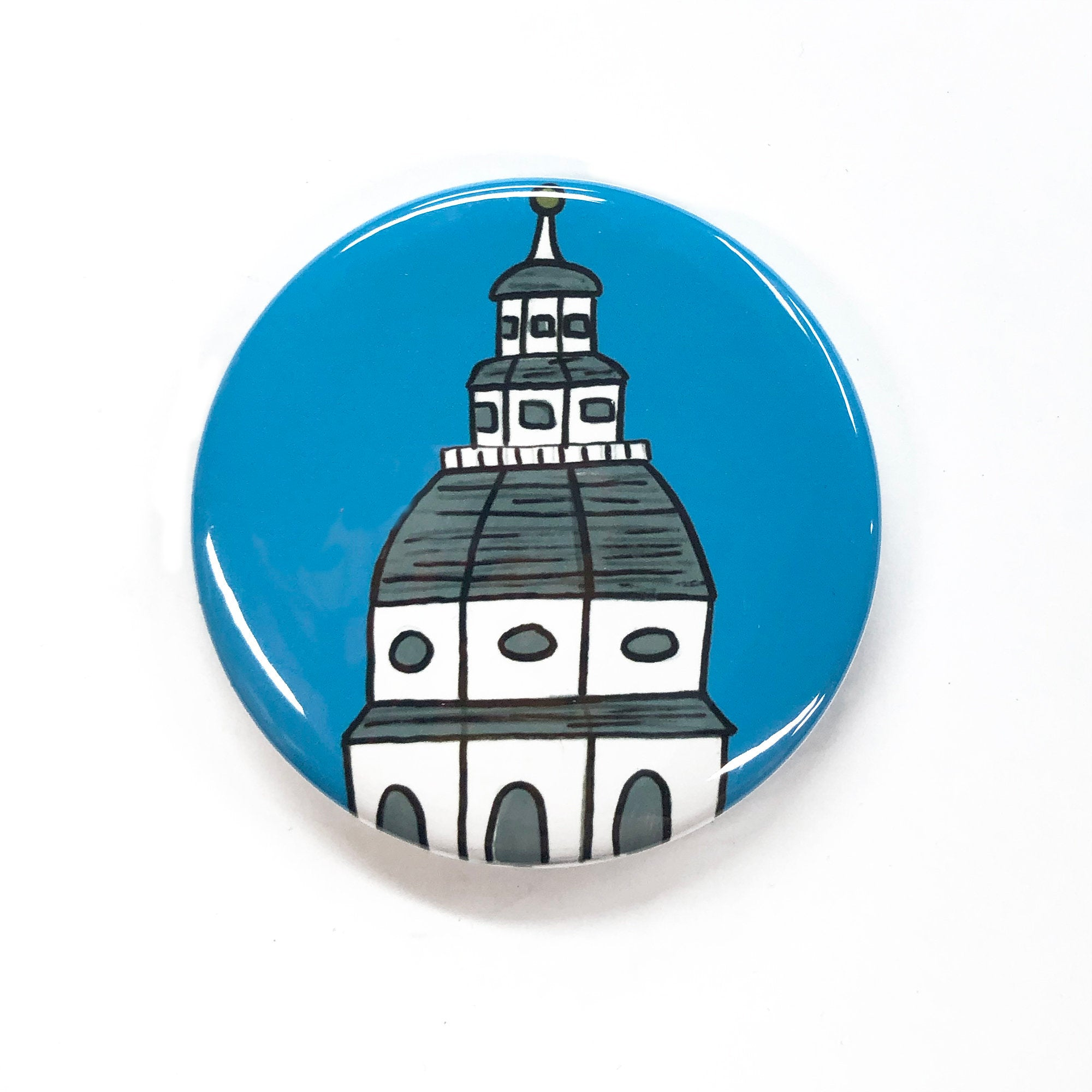 Maryland State House magnet, pinback button, or pocket mirror