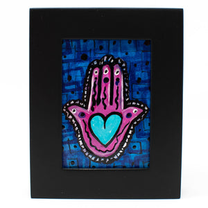 Mini Hamsa Painting - Heart in Hand