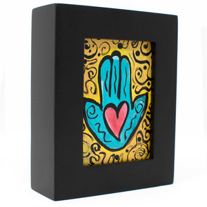Framed Mini Hamsa Painting