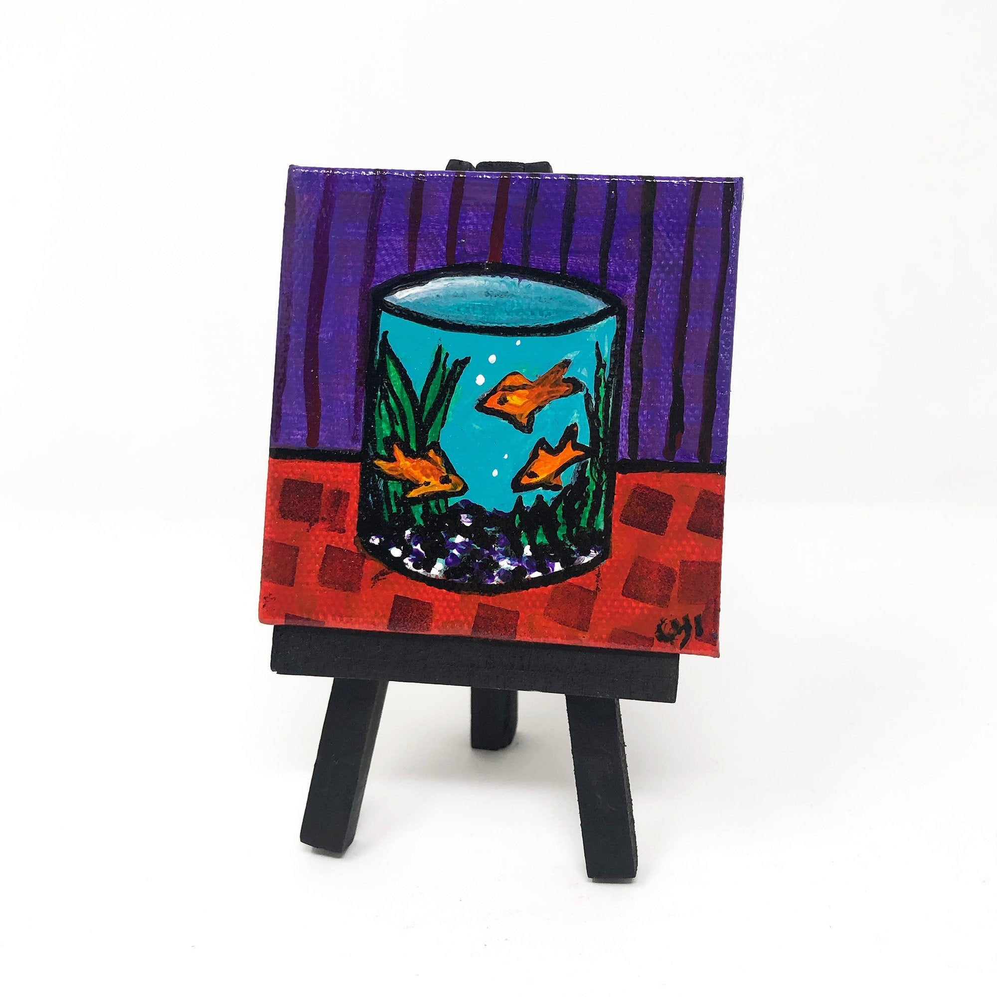 Mini Goldfish Painting