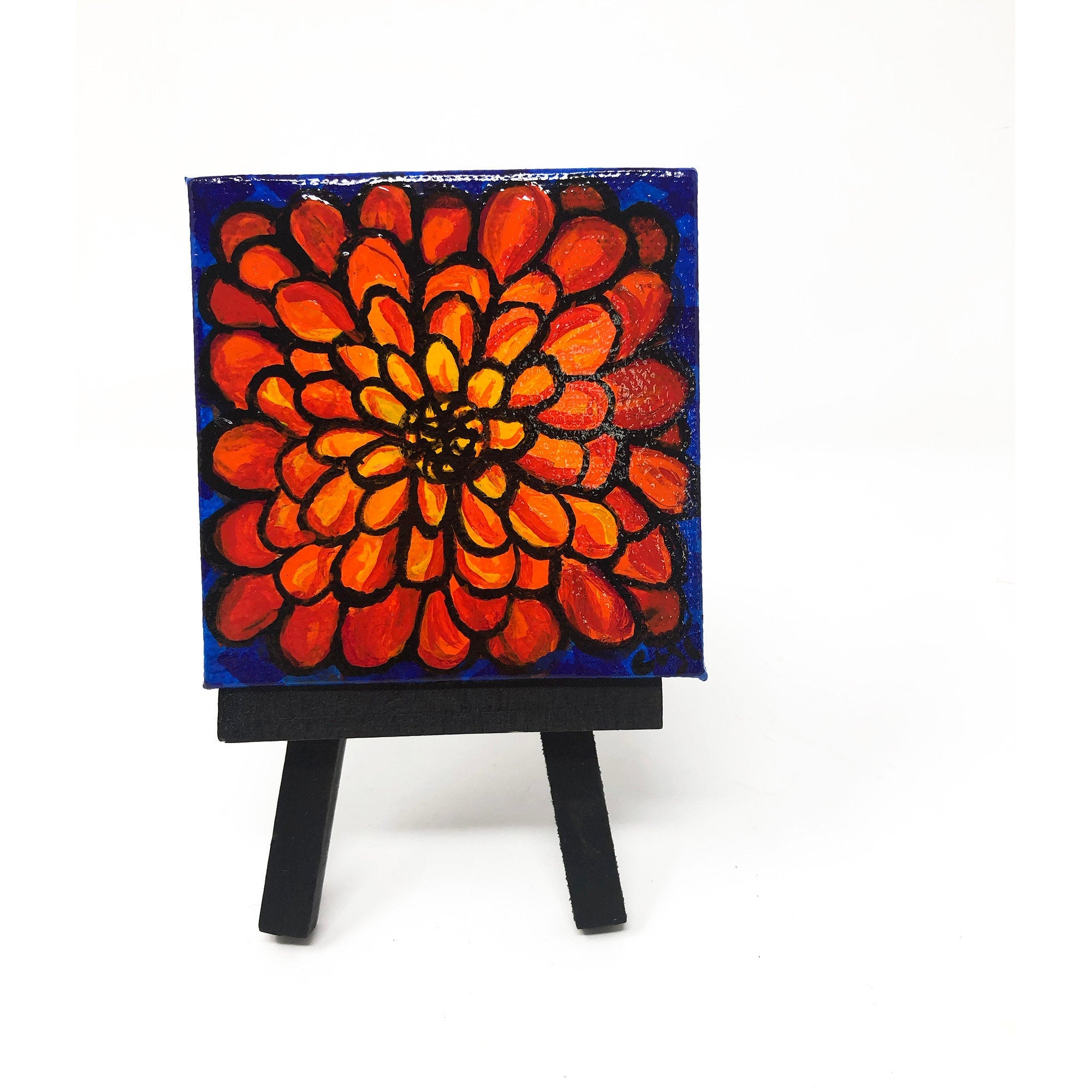 Mini Zinnia Painting