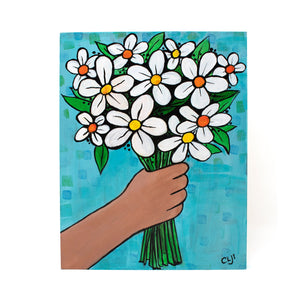 I Picked Them For You - Original Flower Bouquet Painting